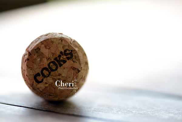 A Cook's sparkling wine cork would be ideal photographed and framed in a kitchen.
