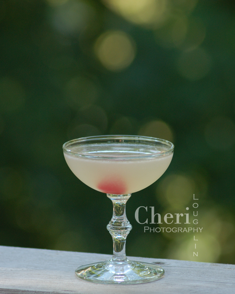 George's Special gin cocktail with three easy ingredients plus maraschino cherry garnish. {photographer / mixologist Cheri Loughlin}