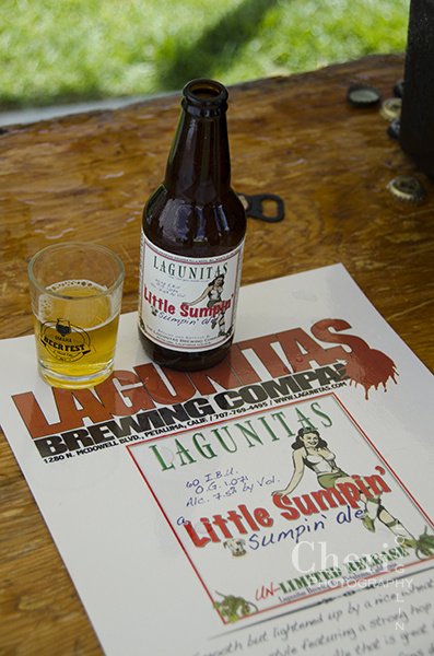 Lagunitas Brewing Co – Petaluma, California Little Sumpin' Sumpin', American Pale Wheat Ale, 7.5% Golden color with a bit of sunshine misting the glass. This is a nice refreshing summer beer with delicate, smooth rather than bitter finish. Great for wheat and IPA fans.