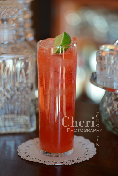 This Cherry Limeade's secret ingredient is a super easy Maraschino Cherry Infused Rum.