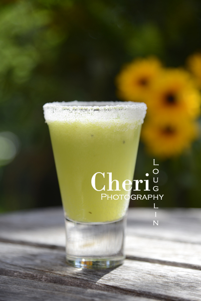 Moscato Monster Mash Halloween shot with kiwi, pineapple, lime and bubbly moscato spumante