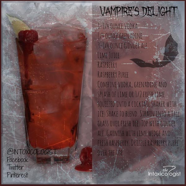 Vampire's Delight is simple, uncomplicated and delicious. It stays within the realm of sophisticated style and keeps your Halloween party simply tastefully trendy.