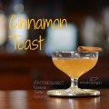 Cinnamon Toast Martini Rum and Applejack cocktail with delicious warming, buttery cinnamon toast flavor. A perfect fall to winter cocktail, Thanksgiving and Christmas holiday martini