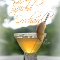 The Glittering Spiced Orchard cocktail gets its name from the wonderful spiced rim. The flavor is sweet apple with splash of peach to complement wine.