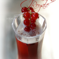 This is a lovely, vibrant variation on the classic Kir Royale with red currants. This version adds a bit of lush, fruit flavor with the pomegranate juice.