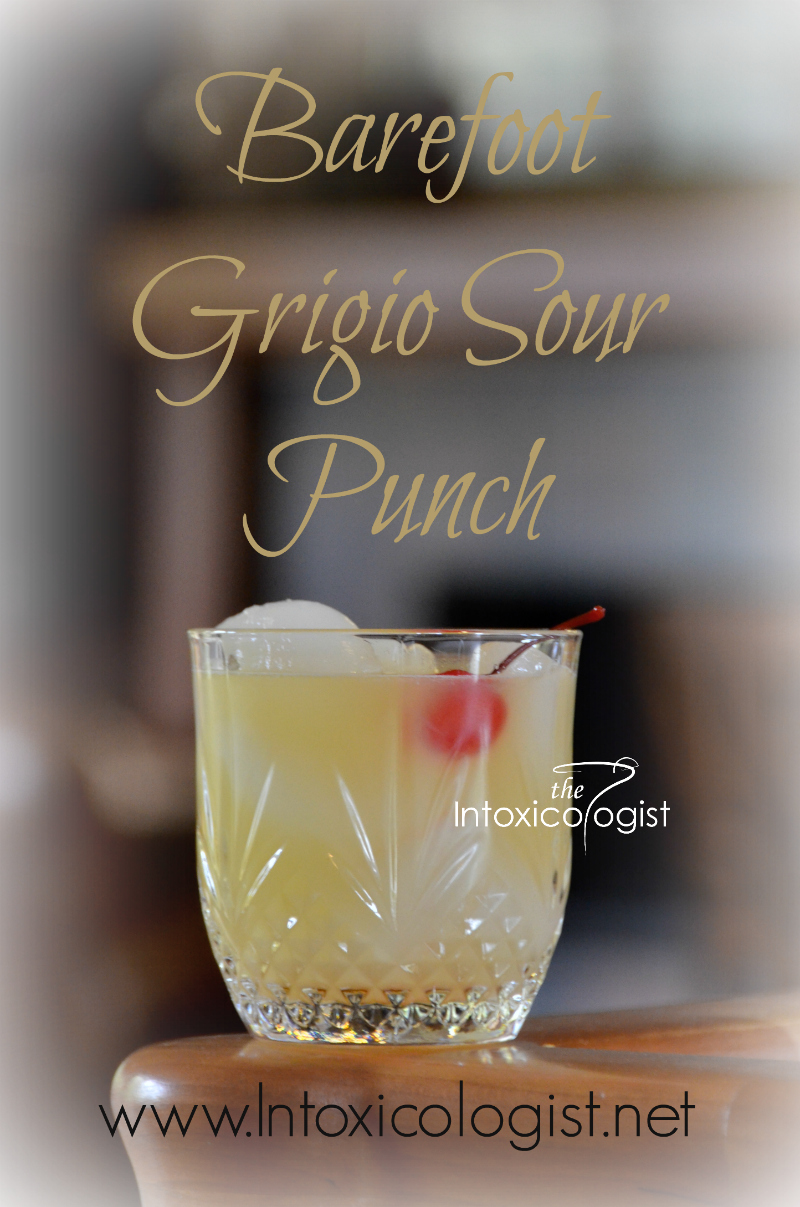 The Grigio Sour Punch is excellent for single serve or multiply the recipe for a punch bowl of fun! This is a recipe is a variation on classic Sour drinks. The flavor is sweet and sour balanced.