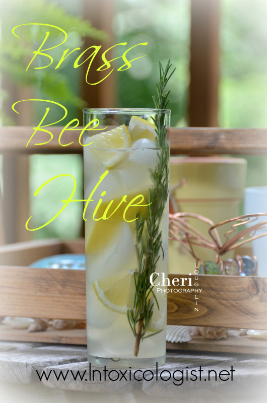 Let the Brass Bee Hive wine cocktail get you into a summer state of mind with its delicious mix of moscato wine, lemonade and honey. Honey gives the Brass Bee Hive richer lemonade flavor while rosemary brings fresh, earthy home goodness to the drink.
