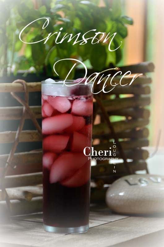 The Crimson Dancer is a fun and easy long drink. It's also lower in alcohol content than many common cocktails since it uses wine as the base ingredient.