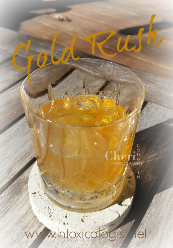 When I ran across the Gold Rush cocktail recipe it sounded so good I wanted to make it right then and there on the spot, but I was out of honey. Honey bourbon liqueur makes the perfect substitution!