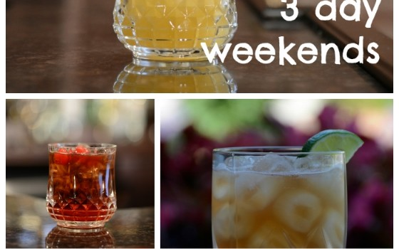 Five 3 Ingredient drinks for 3 day weekends