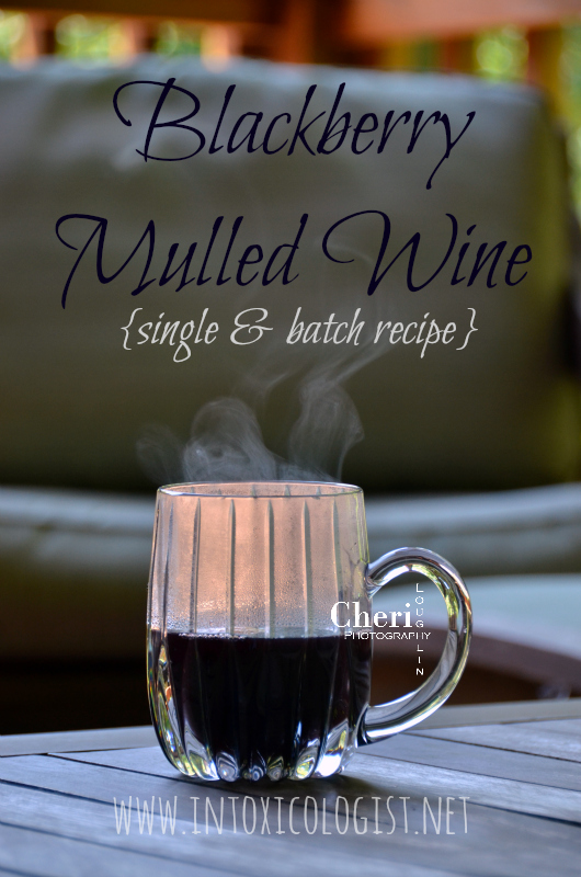 Blackberry Mulled Wine contains lush sweetness with lots of blackberry and baking spice notes. This is excellent for batch or single serve use.