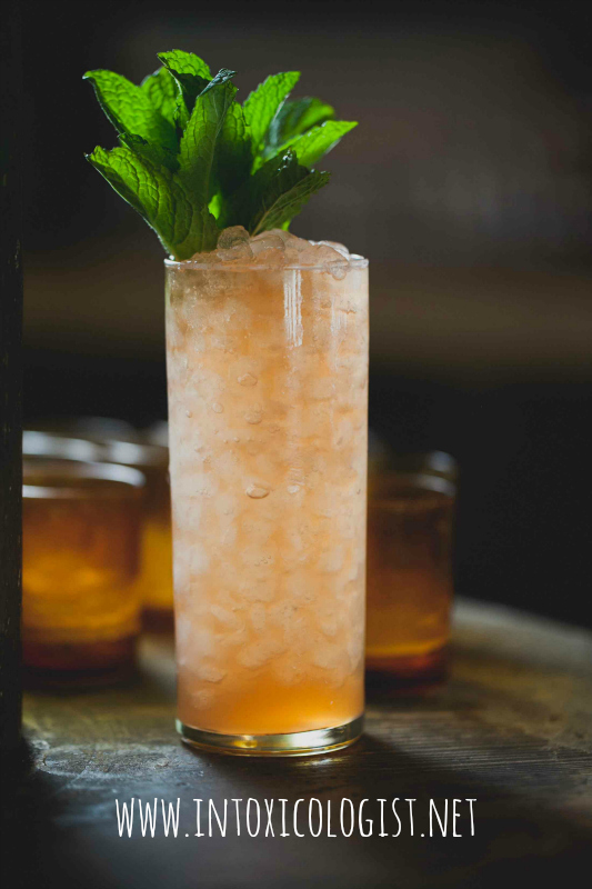 Don Siegel – recipe by Thomas Waugh with Don Julio Reposado Tequila, apricot liqueur, mezcal and more.