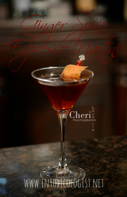 Espresso martinis are dessert to after dinner delicious and ever so popular. They are contemporary casual and classically styled. This version contains light orange sweetness with ginger spice play through.