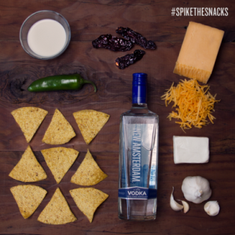 New Amsterdam Vodka kicks the tailgate game plan up a notch with their version of Vodka Nacho Cheese, a Beer-Tail and the spicy Highball's Paradise. Yep. It had to be done.