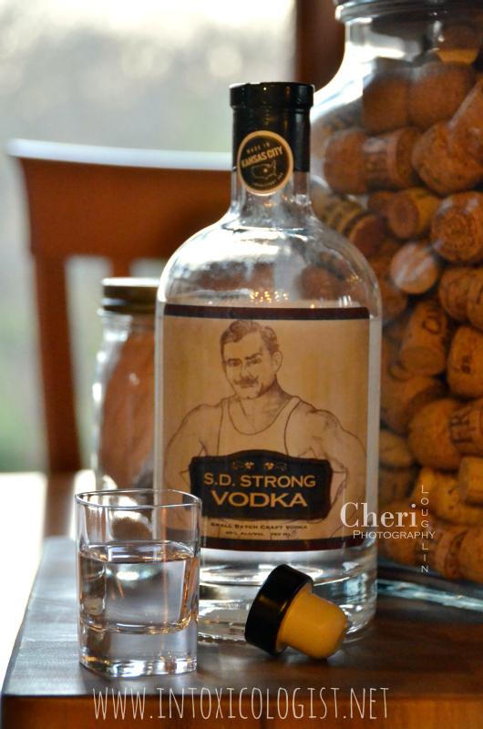 S.D. Strong Vodka: This vodka has great viscosity with medium to heavy body. It feels slightly thick and very smooth as it rolls over the tongue.