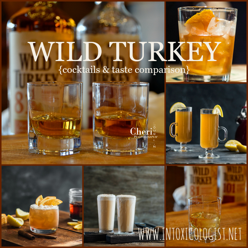 Wild Turkey 81 and 101 bourbons taste comparison and holiday cocktails