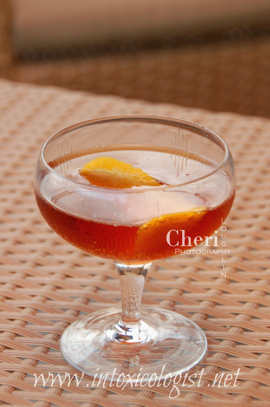 The Hanky Panky classic cocktail is sometimes referred to as a variation of a Sweet Martini which uses a 3:1 ration of gin and sweet vermouth with orange bitters. The Hanky Panky includes Fernet Branca for a lightly bittersweet concoction.