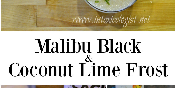 Malibu Black and Coconut Lime Frost Drink - refreshing and bursting with fresh citrus and coconut.