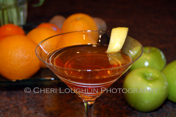 Ruby Twist 034 This little gem of a cocktail uses reposado tequila, pomegranate liqueur and premium orange liqueur. Ruby Twist weighs in at about 48.63 proof. - recipe and photo credit: Mixologist Cheri Loughlin of The Intoxicologist {https://intoxicologist.net}