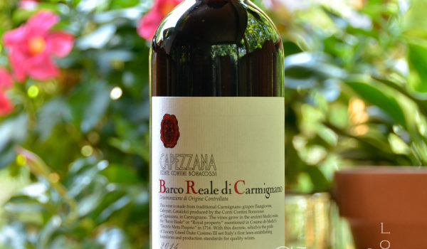 Capezzana Barco Reale Di Carmignano D.O.C.is lovely wine in the $15 range with light sweetness, hints of cherry and watermelon and spiced wood notes